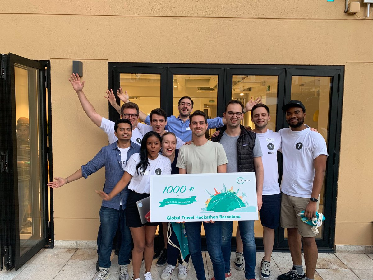 """We well represented @tourlane in the """"Global Travel Hackathon - Barcelona Edition"""" this weekend by winning the 1st place! Congrats to the amazing team that worked hard for the whole 24h!! 🥇🎉🎈🍾 https://t.co/uG65UGdnwZ"""