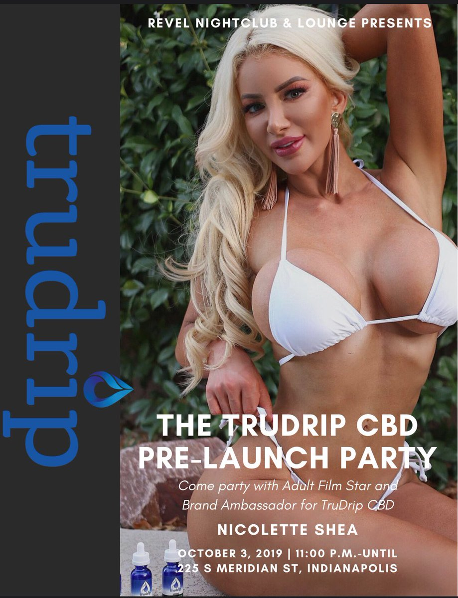 I'm off to Indianapolis on Wednesday for @trudripcbd CBD launch party! Revel Nightclub is hosting @trudripcbd CBD Launch party on October 3rd at 11pm until closing 🔥 p.s.- I've never been to Indiana before!!! 😍👍😄 (address on flyer) see you soon!