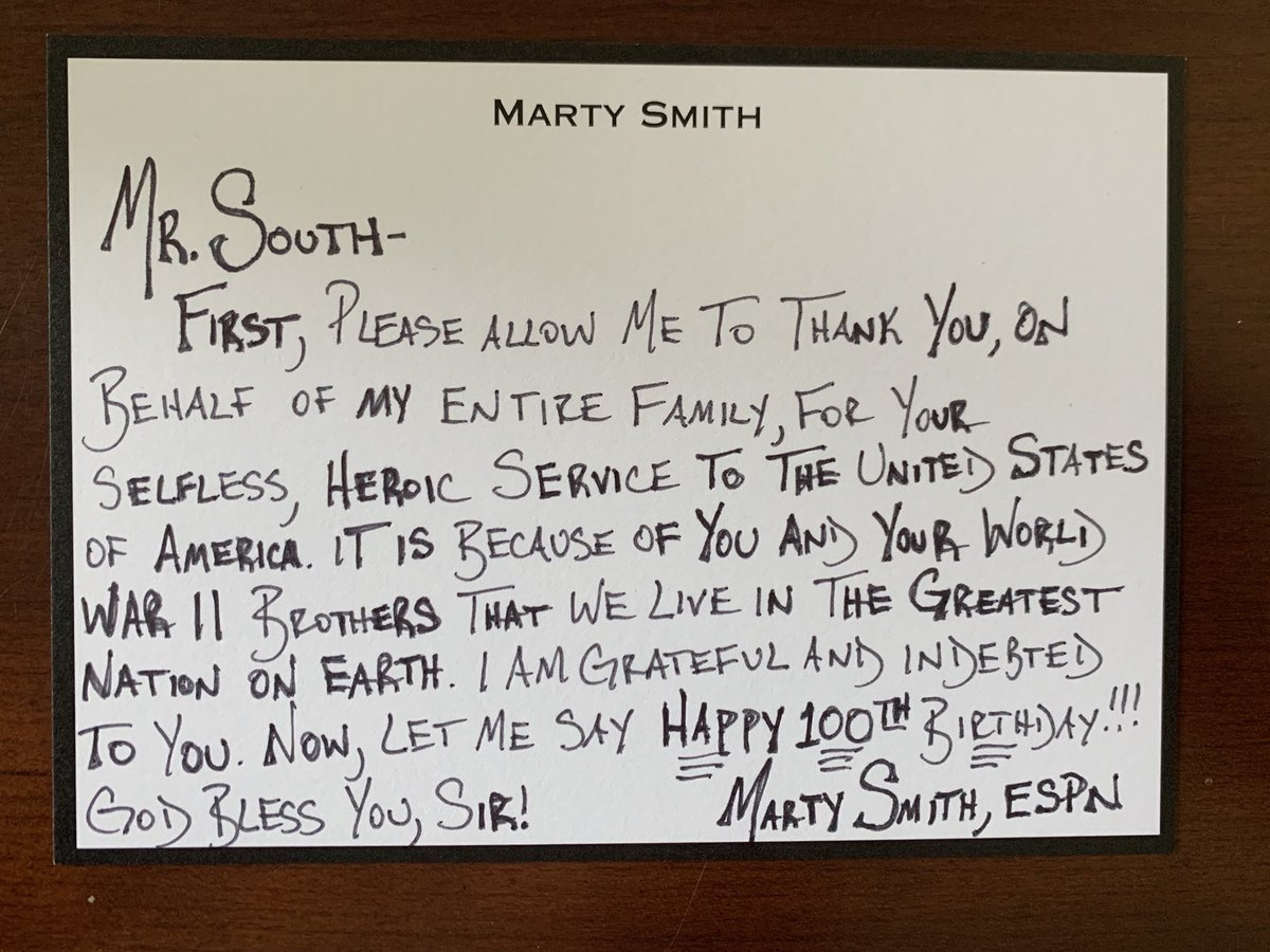 Did y'all send your happy birthday letter to Mr. South yet? If not, get on it! He turns 💯 in one week!
