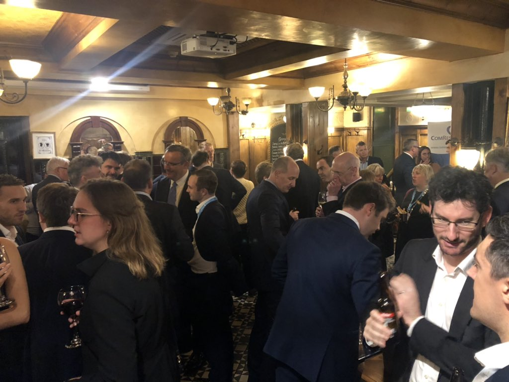 It's kicking off at our drinks reception with @ComRes @GoodwinMJ to discuss #futureoftheparties #cpc19