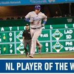 Ian Happ named NL Player of the Week.