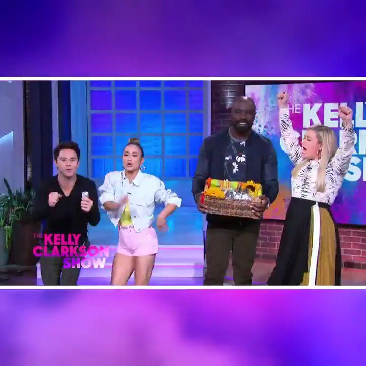 Throw some hot sauce in your bag for tomorrows #KellyClarksonShow #TacoTuesday edition! @officialDannyT, @realMikeColter, @AllyBrooke and @SashaFarber heat up the stage! Find out where to watch: kellyclarksonshow.com/wheretowatch