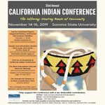 Image for the Tweet beginning: 33rd Annual California Indian Conference