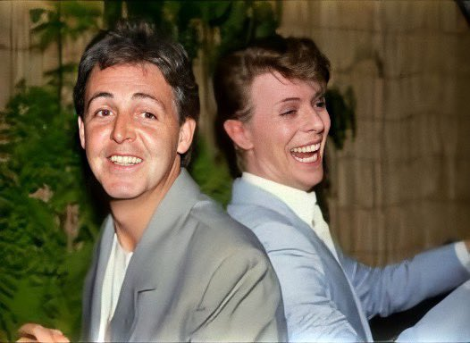 Paul McCartney and David Bowie ❤️