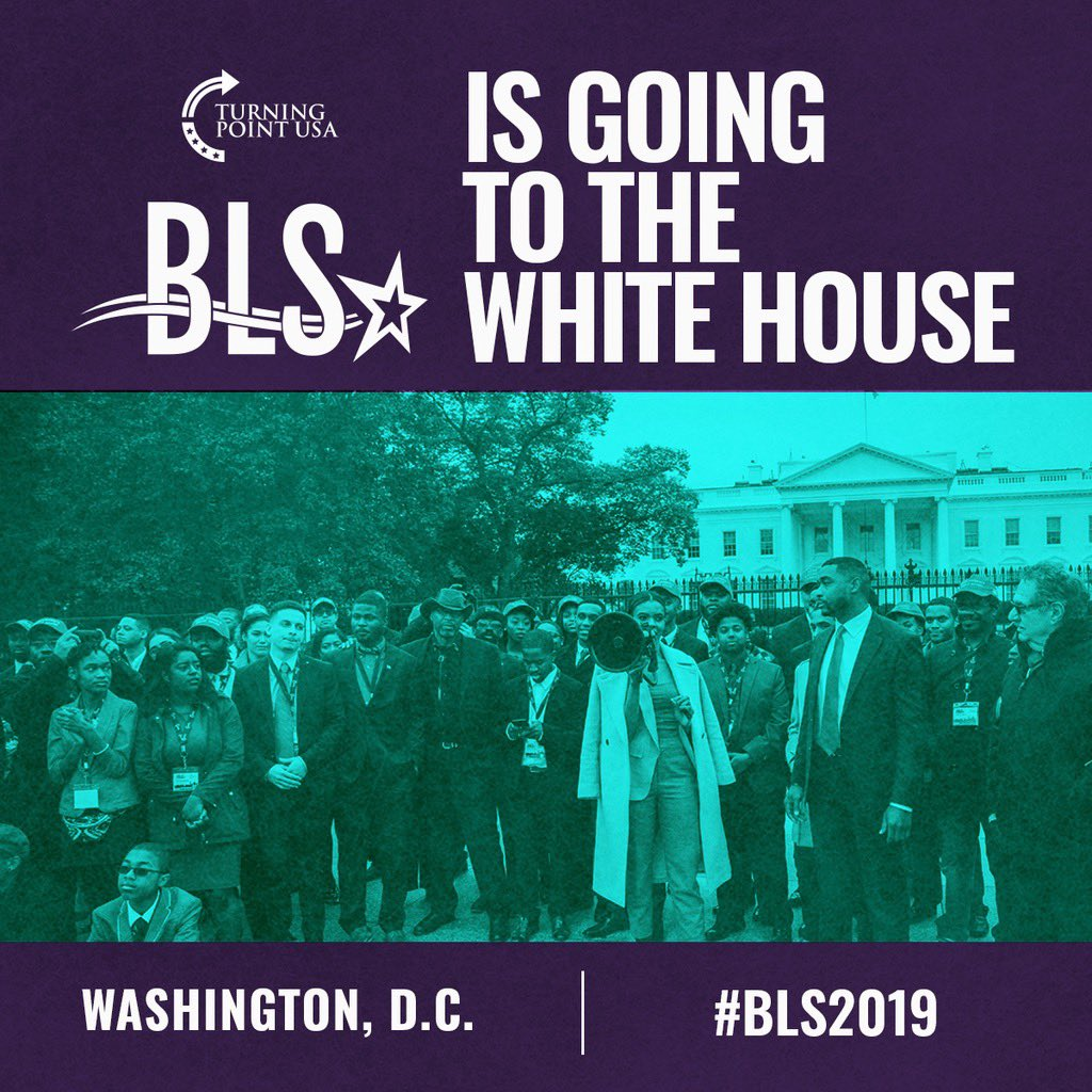 THRILLED to announce this Friday @TPUSA Black Leadership Summit chaired by @RealCandaceO will be heading to the White House to hear from @realDonaldTrump   This is a vision Candace had last year, to see it come to life AGAIN is incredible  History is being made  Left is scared! https://t.co/YhtQmyKaC2