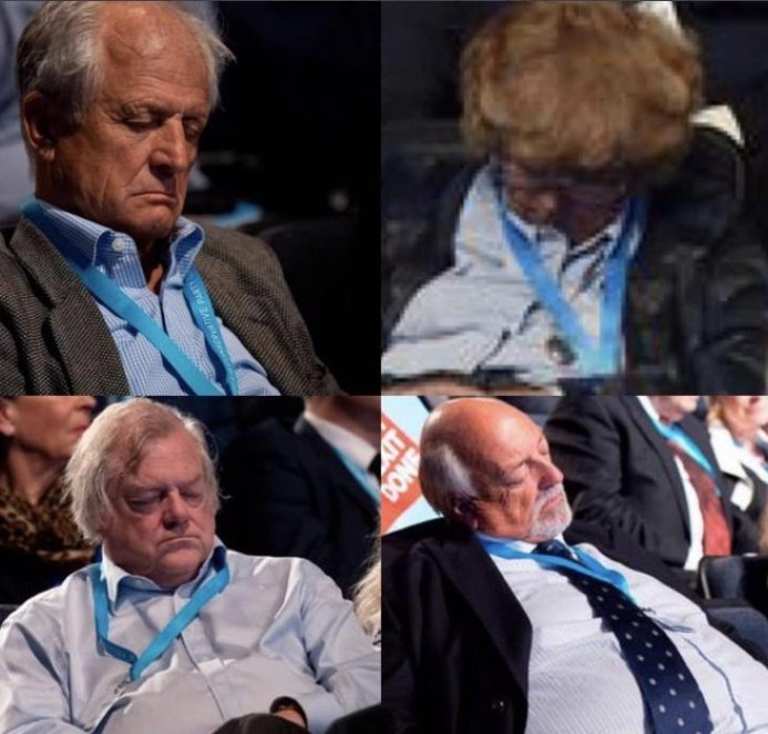 This lot are the people who elected Boris Johnson as prime minister. #skypapers #CPC19 #ConservativeConference2019
