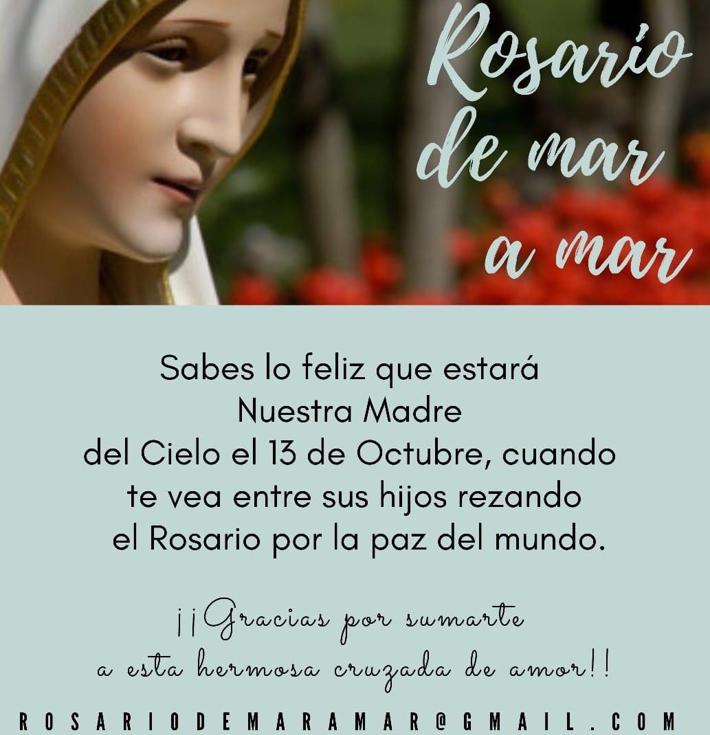 Resultado de imagen para rosario de mar a mar 13 octubre 2019