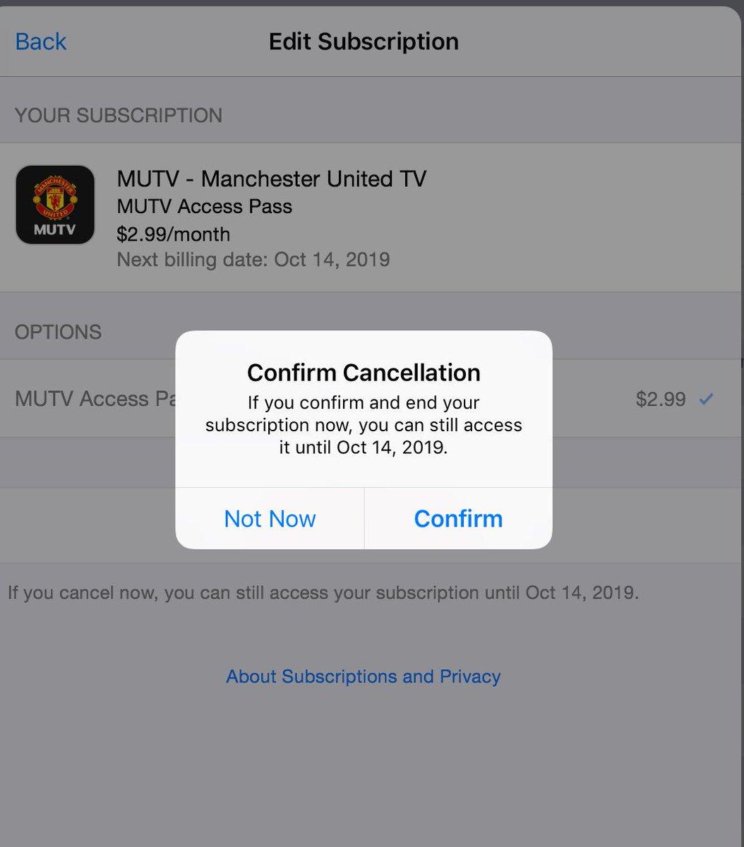 CANCELLED , CANCEL NOW #CancelMUTV #MUFC