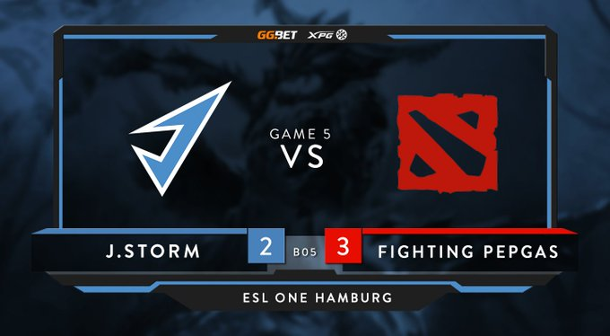 J.Storm vs Fighting Pepegas ESL One Hamburg 2019