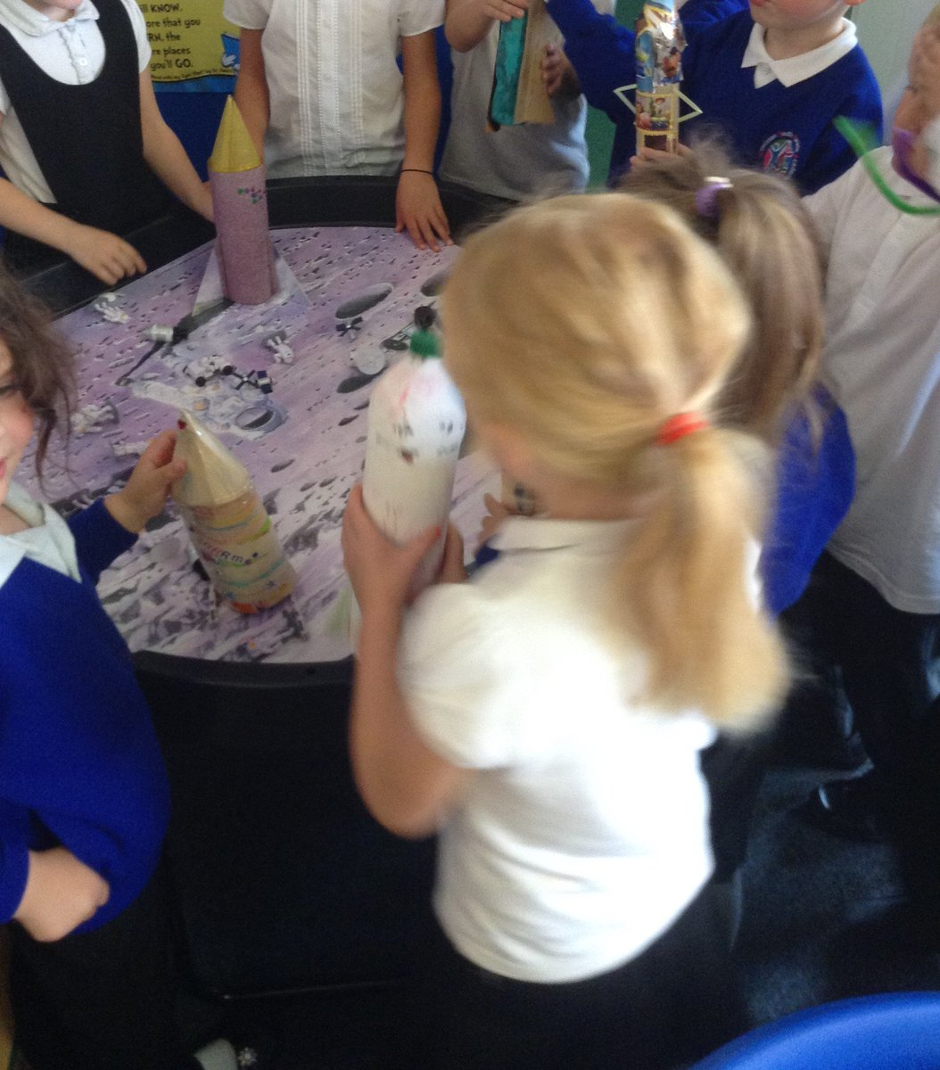 Year 1 have had lots of fun learning about Neil Armstrong's life. We even got into our own rockets and zoomed to the moon!