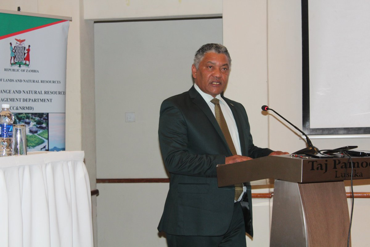 Nationally Determined Contributions (NDC) Partnership scooping mission to Zambia currently underway, and Minister of Justice, Given Lubinda, officiates on behalf of Lands and Natural Resources Minister @UNFCCC @ndcpartnership @GivenLubindaMP @RuthBWitola @msimuko @friphiri