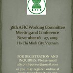 Image for the Tweet beginning: The 38th AFIC Working Committee