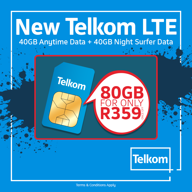 Telkom Rica Agents On Twitter Don T Miss Out On The New Telkom Lte Prepaid Deals For R359 Get Sim Only 80gb Visit The Store Today For Great Deals T C S Apply Https T Co A9an60jpsq
