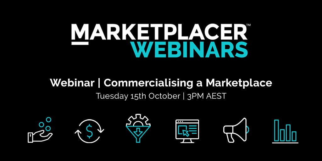 MARKETPLACER WEBINARS | Want to learn about how a marketplace generates revenue? Join us for another webinar on Oct 15th at 3PM AEST➡️https://t.co/paVOaIDwsc  #webinar #marketplaces #ecommerce #dropship #unifiedcommerce https://t.co/Lzb7XZOz9Z