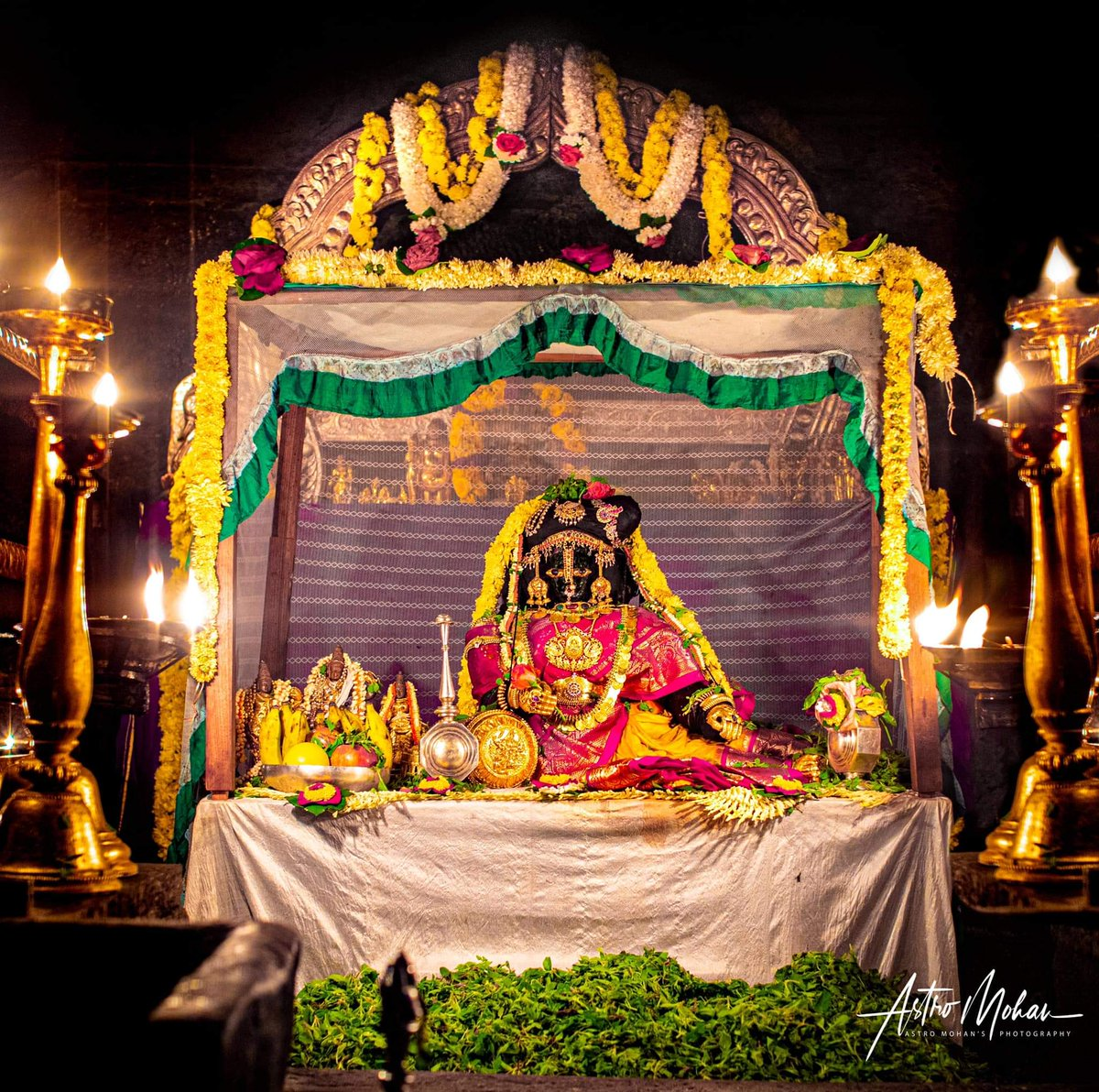 On the occasion of #Navratri #SrivishwaVallabhaThirtharu decorated #lord #krishna in  #Rukmini alankar at Sri #KrishnaMatha, #Udupi and also offered laksha #Tulasi archane and mahapooje. ಶ್ರೀ ಕೃಷ್ಣ Photo credit: AstroMohanpic.twitter.com/HQ180fdztY