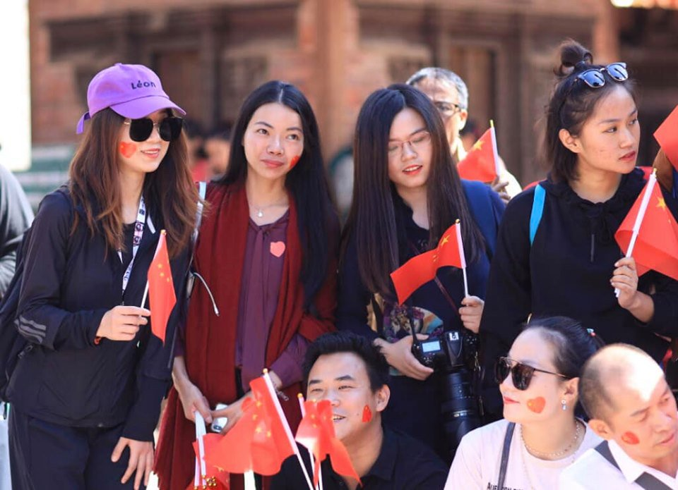 People from China gather to celebrate #ChinaNationalDay in Kathmandu, Nepal on Oct. 1, 2019. Chinese youths and tourists have organised a program to celebrate the 70th China National Day.Photo Credit: http://photographynepal.com #VisitNepal2020 #LifeTimeExperiences
