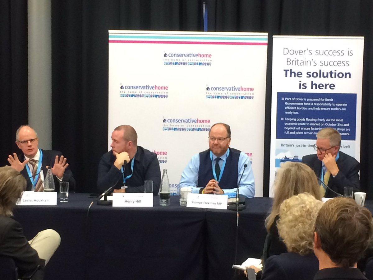 .@newsfromfta Deputy CEO James Hookham is speaking this morning at @Port_of_Dover & @ConHome event about what the logistics industry needs to keeping cross-channel trade flowing post Brexit #CPC19
