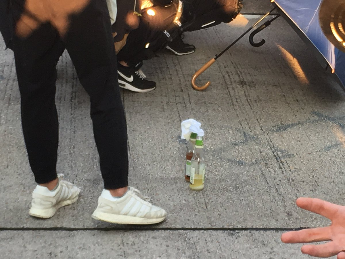 Protesters are preparing Molotov cocktails on Nathan Road