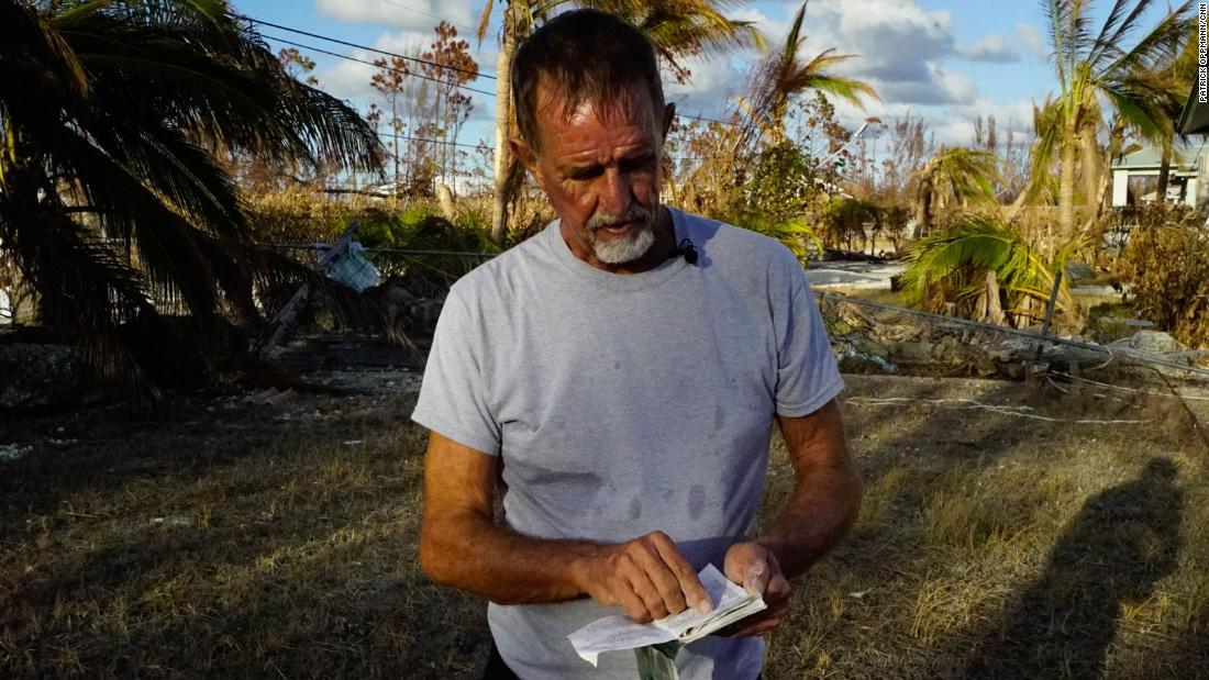 This Hurricane Dorian victim found his wife's glasses, diary and rosary -- but not her body