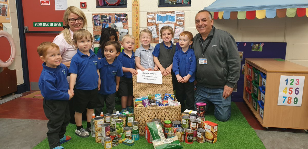 Jonathan was delighted to visit #LostockPreschool to collect all the wonderful harvest food collected by their children. Thank you to all who have given so generously to help those less fortunate!