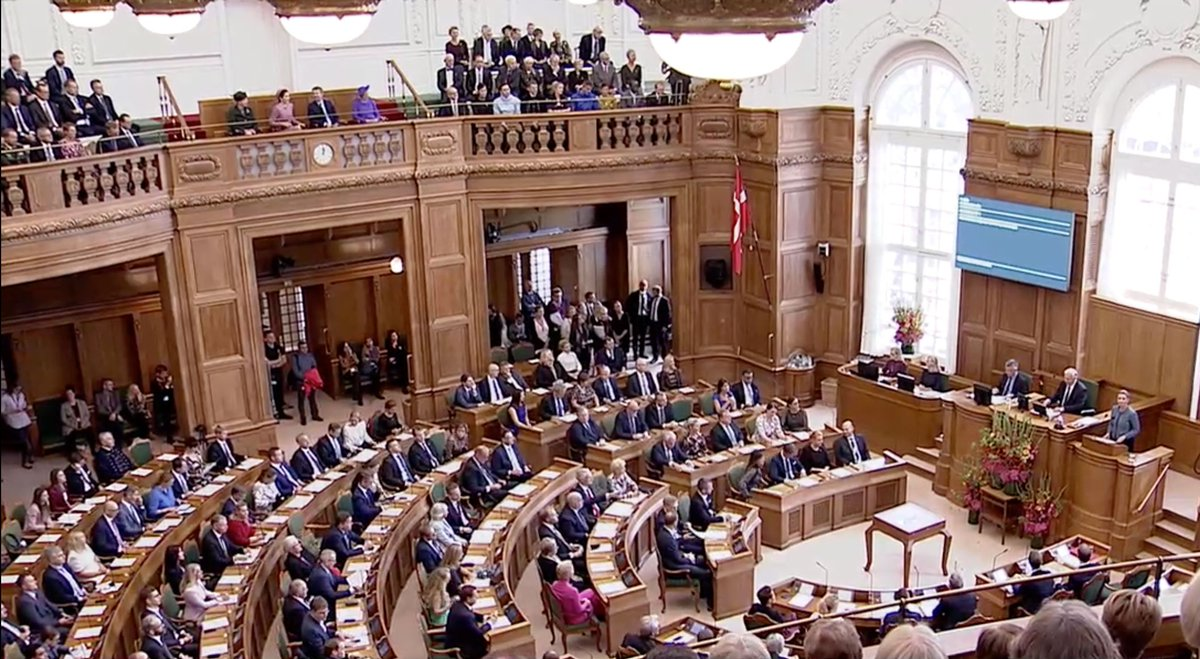 """Denmark.dk on Twitter: """"Today, the #Danish Parliament marks the beginning  of a new parliamentary year. According to the Danish Constitution, the  opening always takes place on the first Tuesday in October.  #DanishDemocracy…"""
