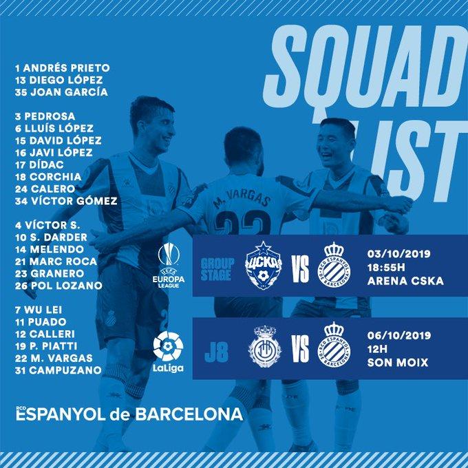 EFyqDL9XoAAuDwX?format=jpg&name=small Gallego convoca 23 jugadores para los partidos ante CSKA y Mallorca - Comunio-Biwenger