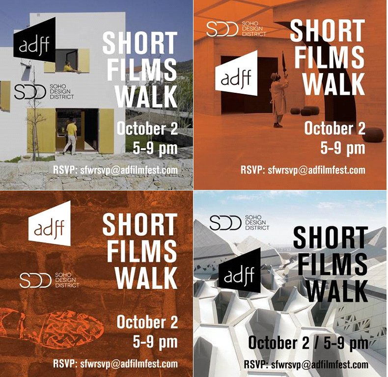 We are pleased to support the 2019 Architecture & Design Film Festival with our participation in the annual ADFF Short Films Walk. Please join us on October 2nd from 5 to 9 p.m. at our Soho showroom https://t.co/26X8UDyGqK RSVP https://t.co/bHikt54RhW @SohoDesignDistrict #SFW https://t.co/GIocslQ0yS