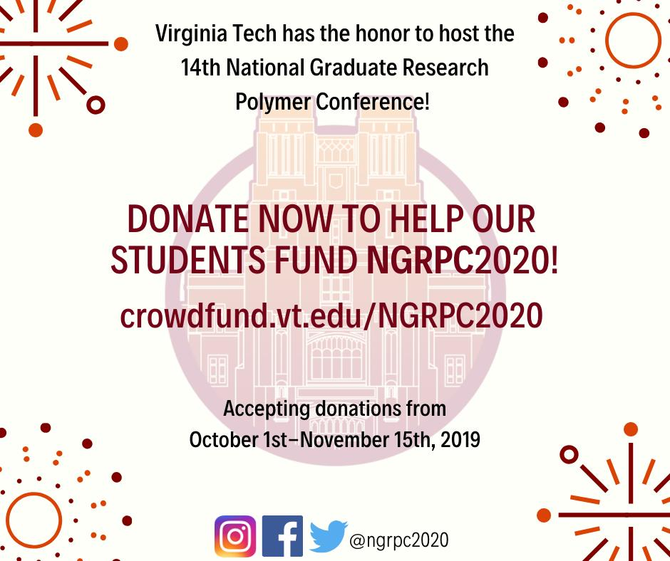 Virginia Tech Graduation 2020.Ngrpc 2020 On Twitter Crowdfunding For Ngrpc2020 Starts