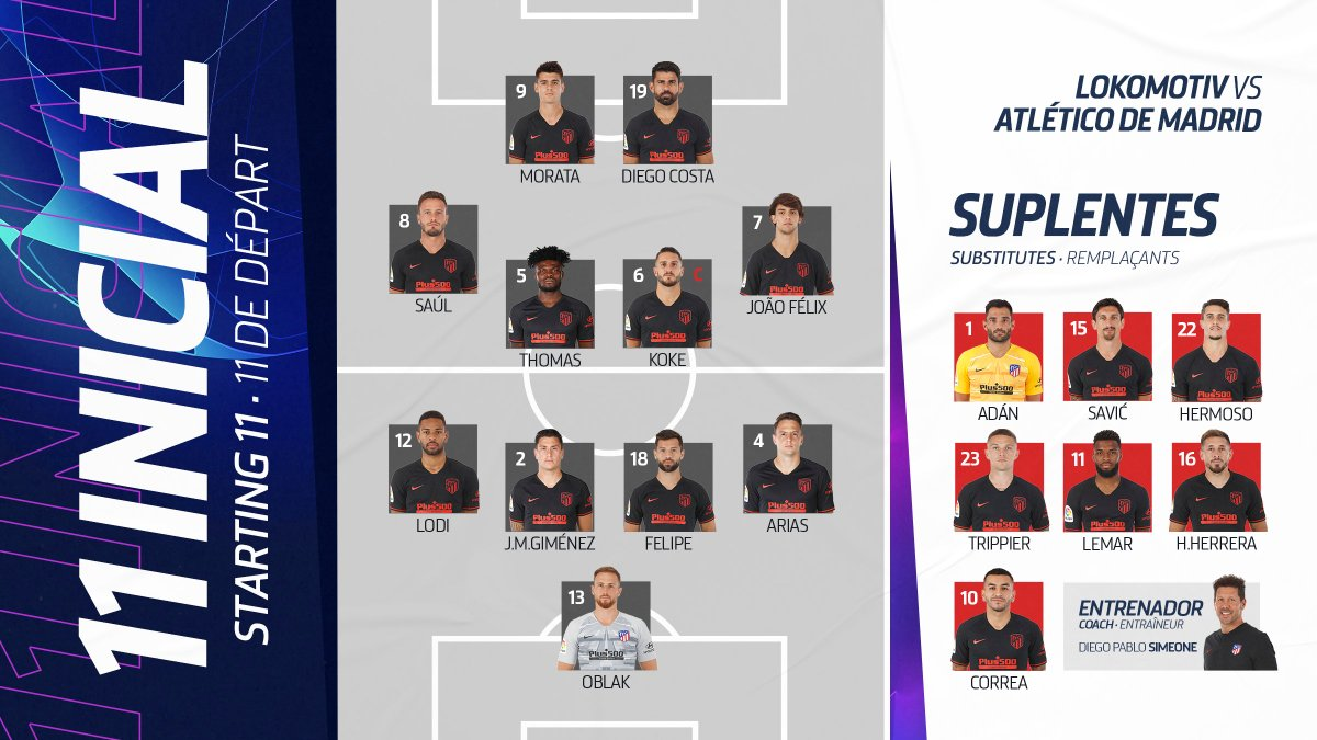UCL 19/20 Grupo D; 2º Partido: Lokomotiv de Moscú vs Atlético de Madrid (Martes 1 Oct. /21:00) EFz3_DxWwAAyZuR