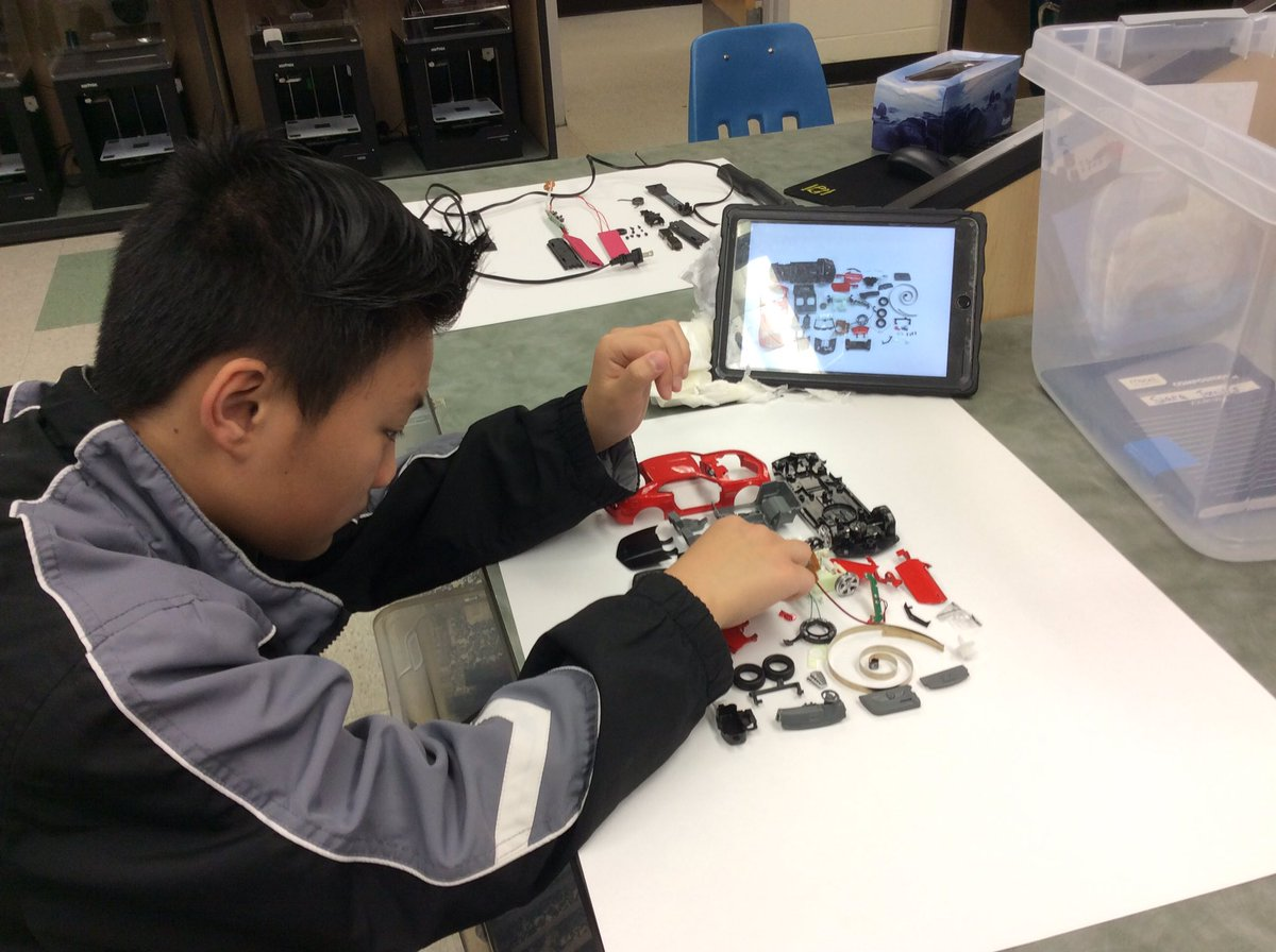 I love this take apart project. Ss are learning about product design, motors, gears and how things work. Thanks <a target='_blank' href='http://twitter.com/Todd_McLellan'>@Todd_McLellan</a> for the inspiration. <a target='_blank' href='http://twitter.com/APSKenmore'>@APSKenmore</a> <a target='_blank' href='http://twitter.com/APS_CTAE'>@APS_CTAE</a> <a target='_blank' href='http://twitter.com/GiftedTawk'>@GiftedTawk</a> <a target='_blank' href='http://twitter.com/donttrythis'>@donttrythis</a> <a target='_blank' href='https://t.co/sR4PSSEG7A'>https://t.co/sR4PSSEG7A</a>