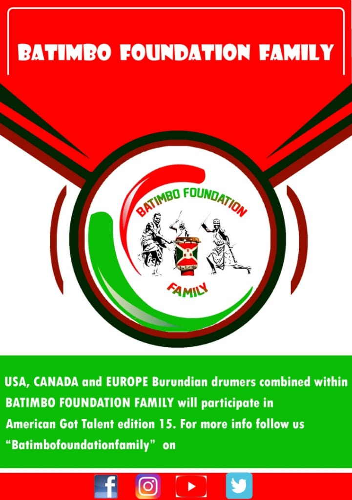 Batimbo Fondation Family @BatimboF will participate in @AGTAuditions 15. @Beyonce #beygood4burundi @RocNation @rihanna @tumabasa @Burundi @usa @European