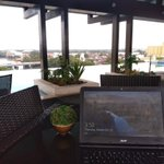 Image for the Tweet beginning: Working outside an office rocks!
