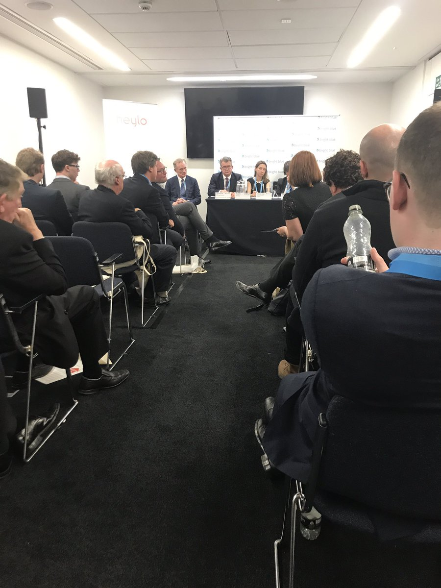 Great #brightblue debate at #cpc19 on housing. Another full house!