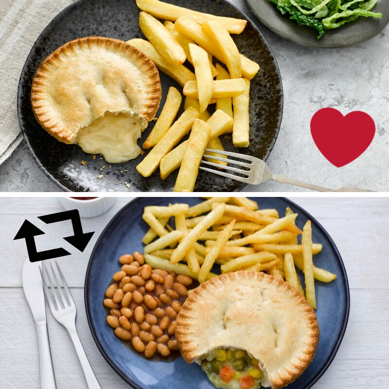 Today is #WorldVegetarianDay! Which of our @vegsoc approved pies do you prefer? Like for Cheese and Onion or RT for Cheese and Veg!