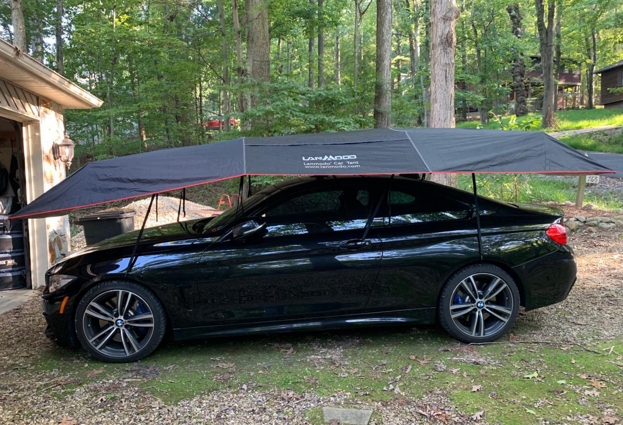 "Lanmodo on Twitter: ""Lanmodo car umbrella on BMW, protecting vehicle from  damage!… """