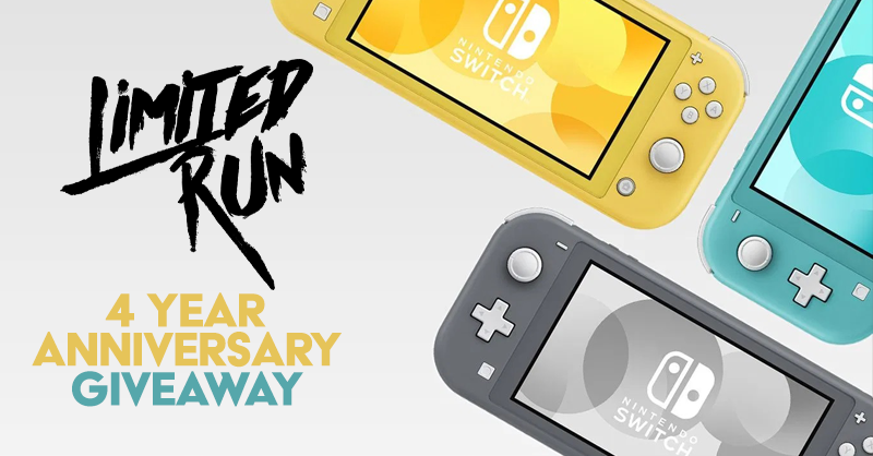 We're celebrating our 4th anniversary with a giveaway!  Two winners will receive a Switch Lite, and one grand prize winner will receive a Switch Lite bundled with an LRG game for every thousand retweets this gets.  To enter: follow us & RT this tweet. We'll draw winners on 10/31!