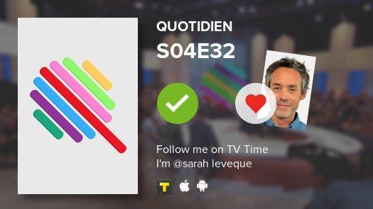 I've just watched episode S04E32 of Quotidien! #tvtime  https:// tvtime.com/r/1c67r    <br>http://pic.twitter.com/6EK6Mic5R9