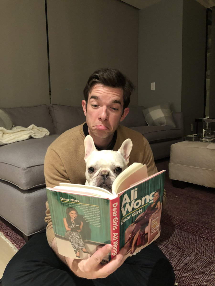 One of my favorite people ever, @aliwong a goddamn world class, museum quality comedian has written a very VERY funny book #DearGirls. Petunia cannot read and therefore is starin' right into the lens. Congratulations Ali!
