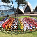 Image for the Tweet beginning: #RLWC9s teams!  #ManlyForever