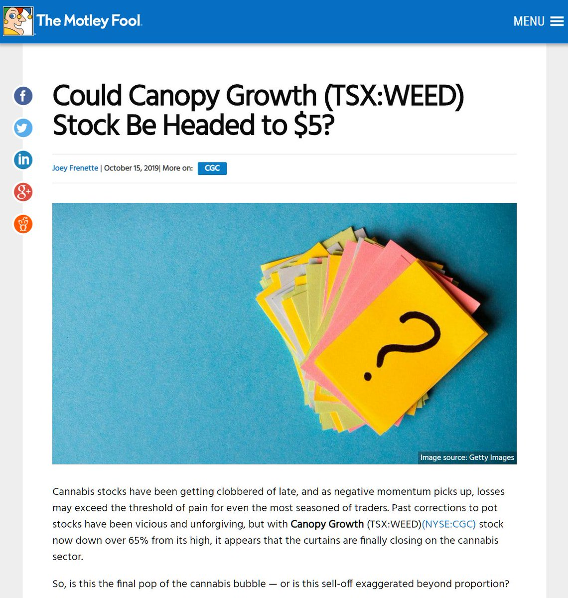 Weedstreet420 On Twitter Motley Fool Is Really The Worst Shit Ever They Use Clickbait Titles So They Can Sell You A 200 Paid Subscription Telling You To Buy The Next 1 000 Winner