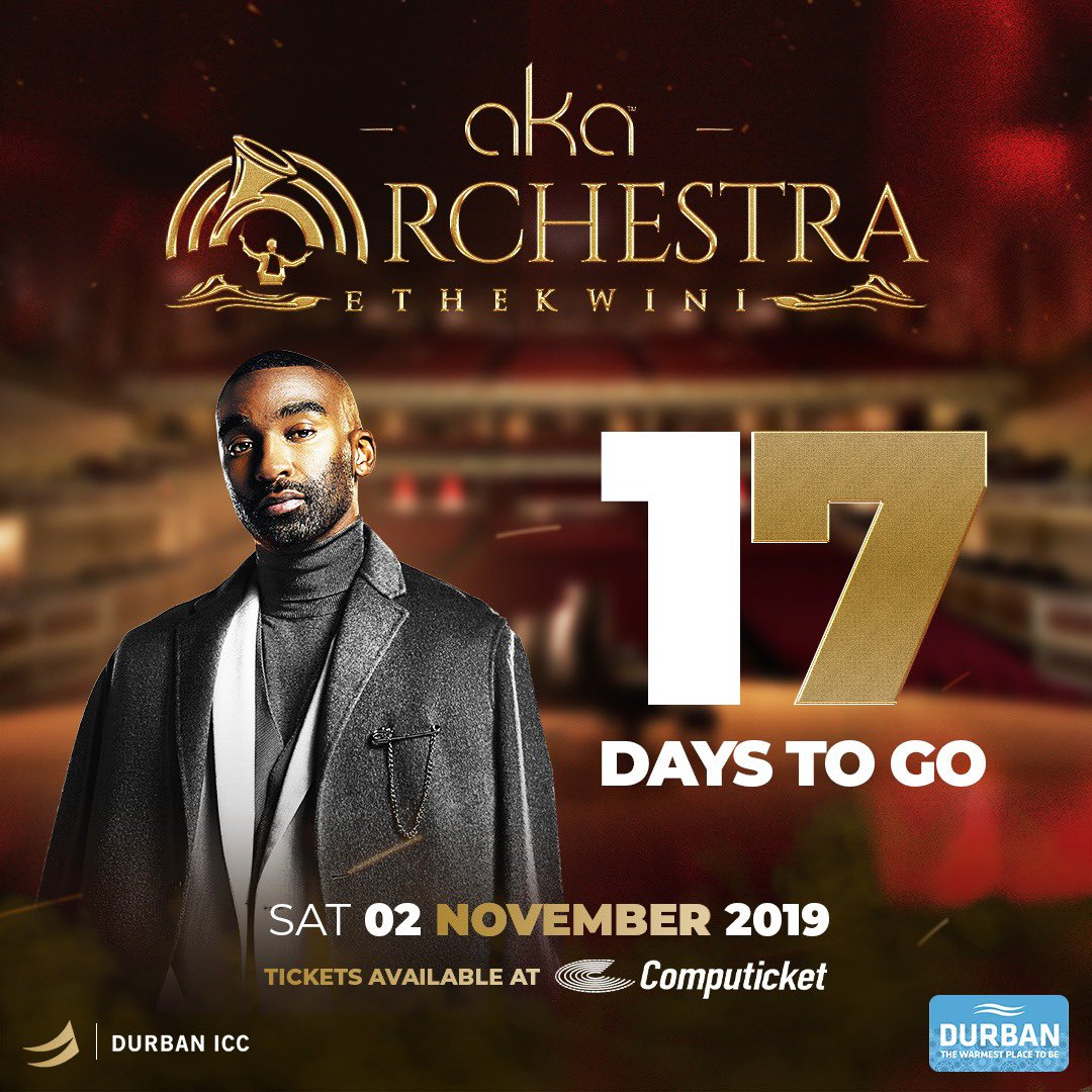 Good Morning MEGACY WORLD  ... 17 DAYS TO GO UNTIL #AKAOrchestraEthekwini  I'll be all around DBN today spreading the good word. If you see me, make sure you ask for some tickets  ... ask nicely.  <br>http://pic.twitter.com/qez9MwkBzU