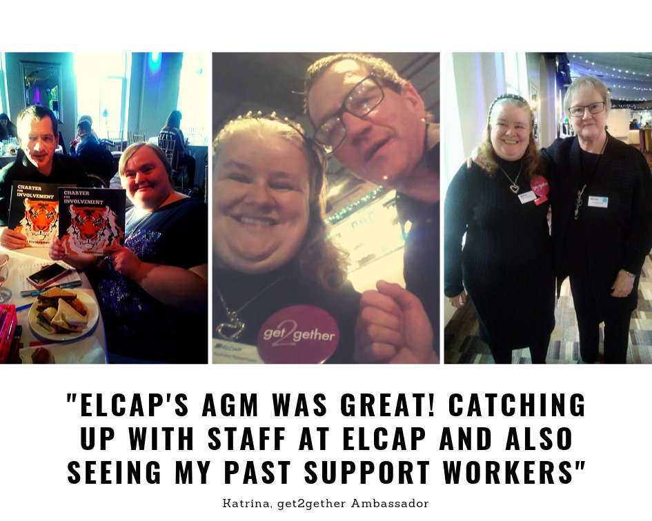 Our Ambassadors did a great job representing get2gether at @ELCAPCommunity AGM last Friday! #iamselfdetermined #LearningDisability #VisibleWomen <br>http://pic.twitter.com/2Htg9yxiOg
