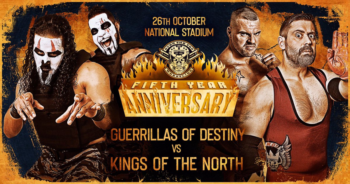 Coming up for the KOTN -   @OTT_wrestling #5yearsStrong   Vs @Tama_Tonga / @TangaloaNJPW   #GoD #BulletClub #Bulletproof #Relentless #OnlyTheBest