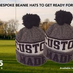"""#WIN 20 beanie hats for your #sportsteam. @MikeCooper_18 (director of 1895 Sports) says """"the winner will be able to #customise the hats in their chosen team colours""""To enter:💙Like our page💛Share this post💙Tag your friendsThe #winner will be revealed next week #GIVEAWAY"""