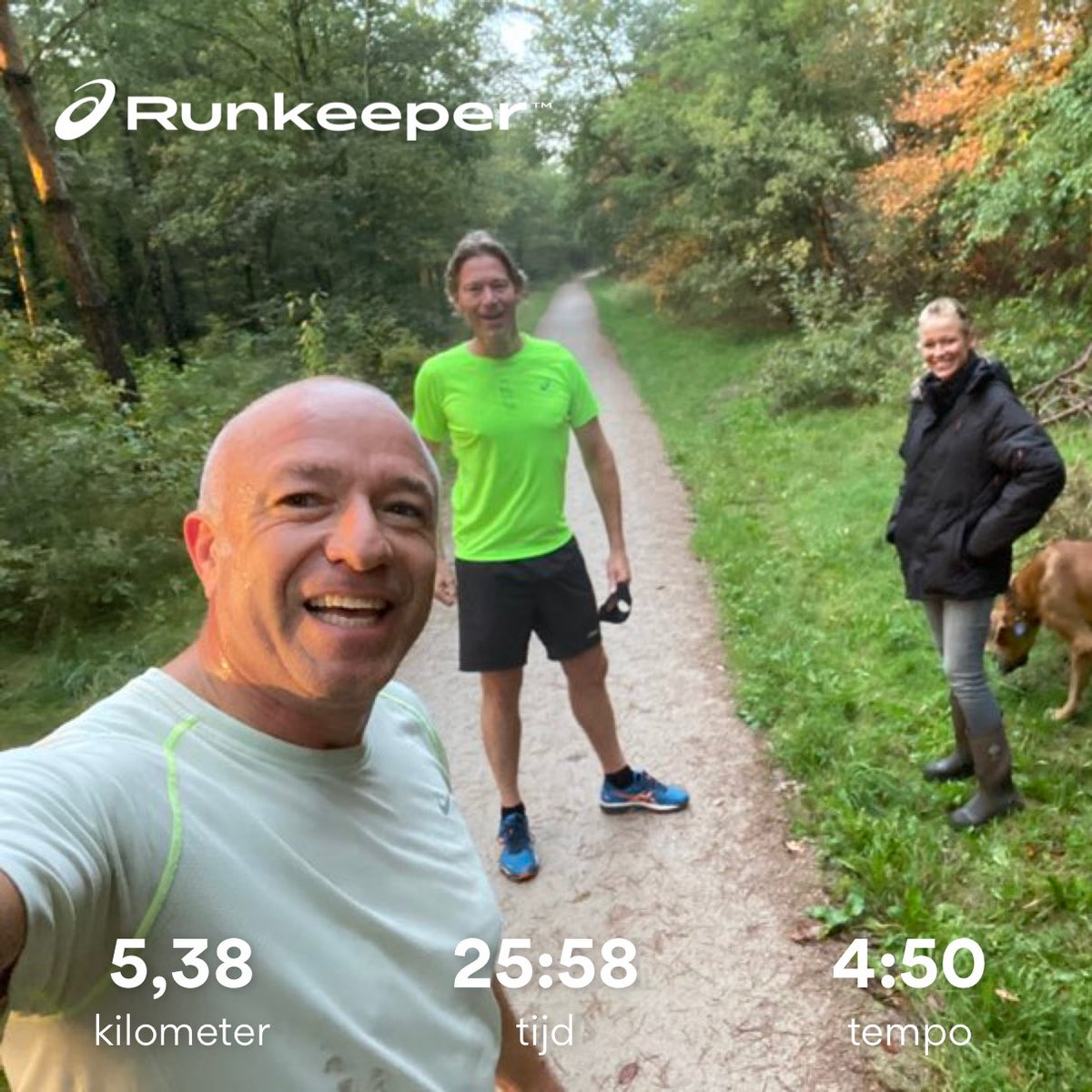 Good morning run 🏃‍♂️ with Carel 👍👊 monday nice started