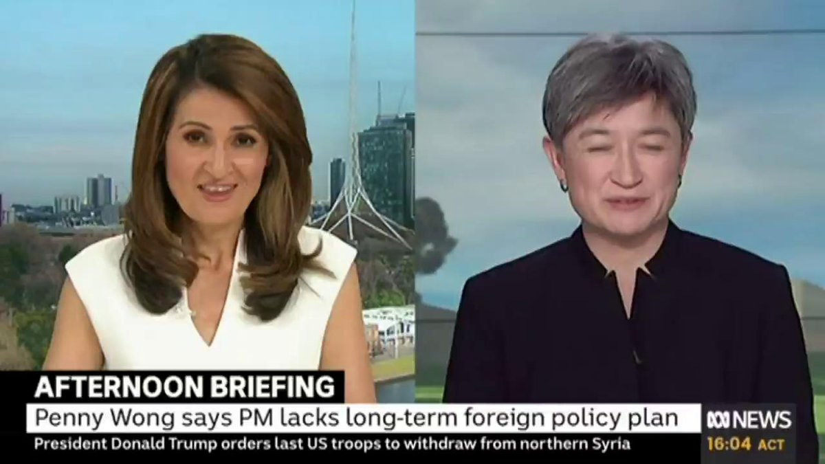 """My question to Peter Dutton [on his Chinese Communist party comments] is – was [it] a thought-through plan? Was it part of the clear strategy or part of a political tactic... it's very difficult to tell where the govt's strategy on China is,"" @SenatorWong tells @PatsKarvelas"