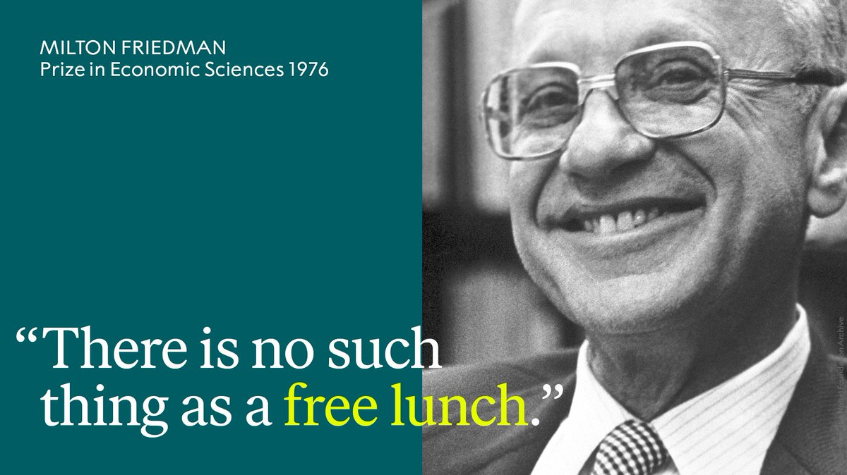 Remembering economist Milton Friedman, who was a strong believer in free-market capitalism.   Who will be awarded this year's Prize in Economic Sciences? <br>http://pic.twitter.com/SPuMVD0odf