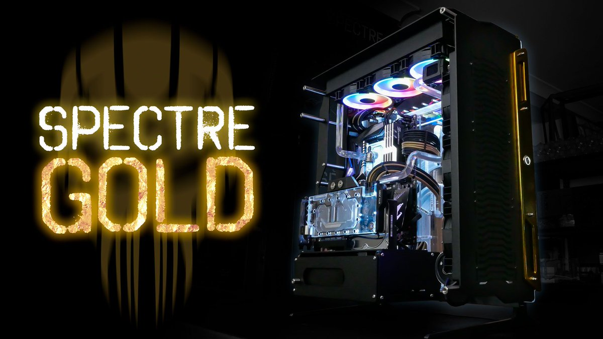 Spectre - Gold   Checkout this post for more photos https://buff.ly/31jBA8w  Need a #customgaming system like this?  Request a quote now https://buff.ly/2l5MNqB #clientbuild #scspectre #singularitycomputers #gaming #customsystems #liquidcoolingsystemspic.twitter.com/f60w1i6USq