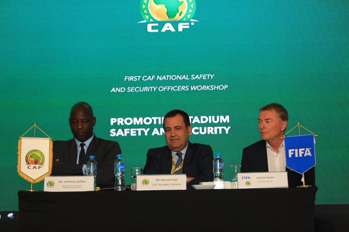 CAF Secretary General Mouad Hajji opens CAF Safety & Security workshop