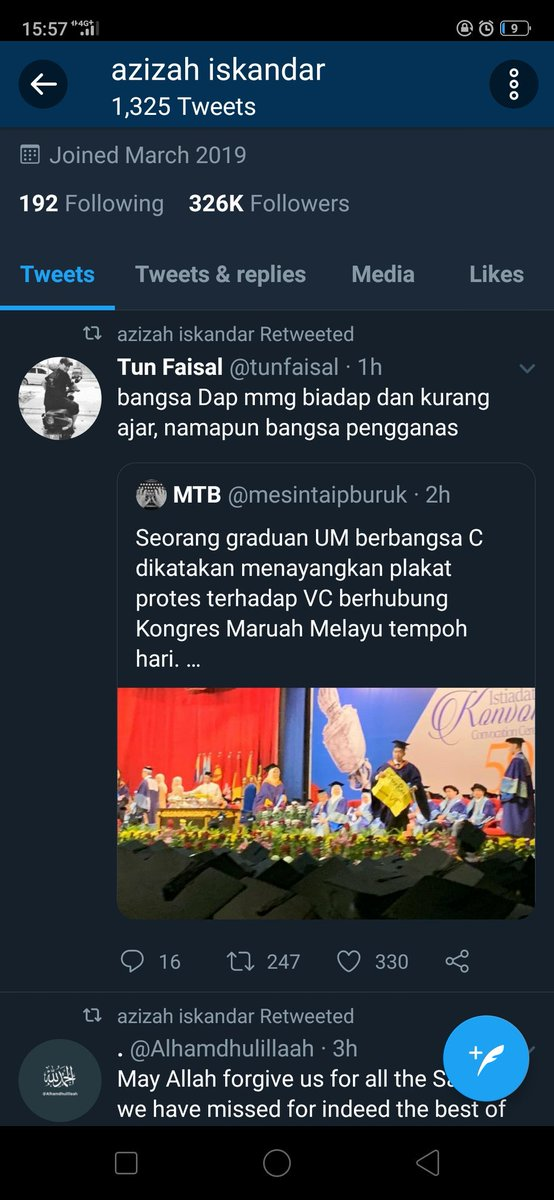 So I saw a tweet of queen agong I liked, I clicked on her profile and omg her retweet   Let's not mention that Tun fesal is a staunch umeno politician ÷_÷ <br>http://pic.twitter.com/mRiKovRCpe